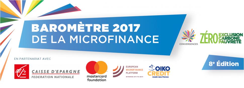 Bannière Baromètre 2017 de la Microfinance - Convergences