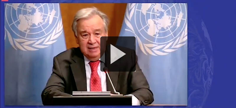 António Guterres au Sommet pour l'ambition climatique